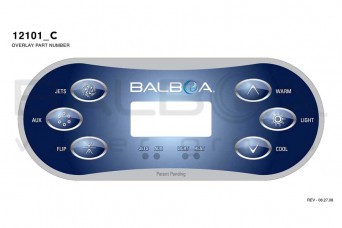 Spa Topside Panel Balboa Revolution TP600 Jets, Aux, Flip, Warm, Light, Cool (56046-01-12101) 56046-01-12101-30