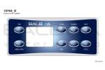 Top Side Panel VL801D - Time, Mode/Prog, Warm, Cool, Blower, Jets 1, Light, Jets 2